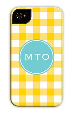 Sunflower Classic Check iPhone Hard Case