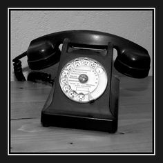 Old black and white phone by Pascal Rouen, via Flickr