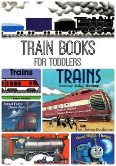 Mom of boys shares our favorite train books that your boys are sure to love! These train books have easily stood the test of time with my kiddos :) Toddler Books, Toddler Fun, Toddler Preschool, Toddler Activities, Childrens Books, Trains Preschool, Transportation Theme, Tot School, Chapter Books