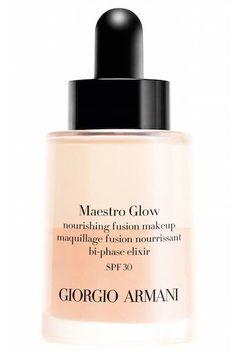 Giorgio Armani Maestro Glow Nourishing Fusion #Makeup bi-phase foundation launching Spring 2016