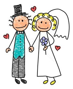 Multi cultural bride and groom stick figures clip art. We can also do custom ethnic mix bride & groom clip art. Bff Drawings, Doodle Drawings, Doodle Art, Sharpie Drawings, Stick Figure Costume, Bride Clipart, Stick Figure Drawing, Stick Family, Cartoon People