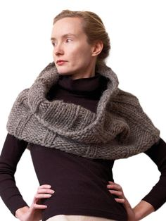 Sumptuous Cowl Knit Pattern from Annie's in 3 sizes