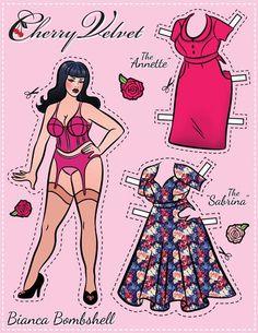 Pin-Up Paper Dolls! – Cherry Velvet Plus:
