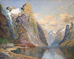 Fjord Scene by Reidar Steinnes