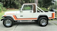 Long hauler: Jeep Scrambler pickup is extended-wheelbase CJ – pickup Jeep 4x4, Jeep Truck, Old Trucks, Pickup Trucks, 4 Door Wrangler, Jeep Scrambler, All Terrain Tyres, Fiat Abarth, Honda Civic Si