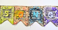 Creation by Song: Shimmerz Mixed Media Name Sign