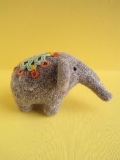 Elephant Queen - Wool Needle Felted Sculpture