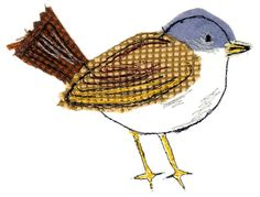 Whitethroat - Sarah Dodd textile free motion embroidery birds                                                                                                                                                                                 More