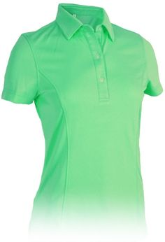 Green Monterey Club Ladies & Plus Size Solid Point Collar Golf Shirt