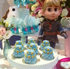Frozen fever party - love the mini cakes!!!