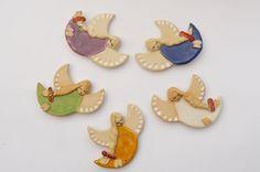 Aniołki ceramiczne wykonane w Pracowni Ceramiki Artami