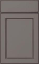 Great Room Wet Bar Cabinetry - Adams Door with Slab Drawer in Flint with Black Glaze
