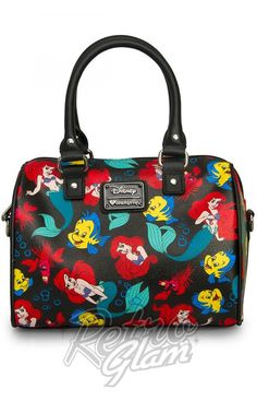 a59f14f818bf Loungefly Disney Little Mermaid Classic Print Pebble Crossbody Duffle