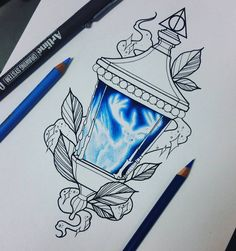 """56 Likes, 8 Comments - Cheri May Burgess (@cheri_may) on Instagram: """"So excited to do this tattoo if she likes it  #harrypotter #harrypottertattoo #tattoodesign…"""""""