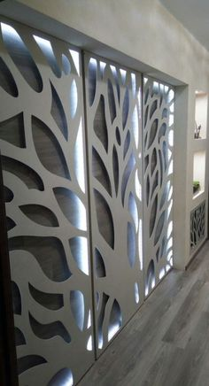 Trendy Led Lighting Panel Ideas Ideas in 2020 Screen Design, Door Design, Wall Design, House Design, Living Room Partition Design, Room Partition Designs, Laser Cut Screens, Laser Cut Panels, Deco Cafe