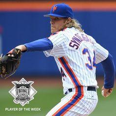 ⚡️ ⚡️ has been named the NL Player of the Week. Osu Baseball, Cheap Baseball Jerseys, Baseball Uniforms, Baseball Shoes, Baseball Season, Ny Mets, New York Mets, Mlb, Boys