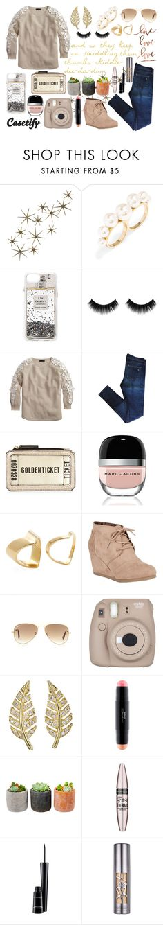 """""""Untitled #159"""" by modest-texan ❤ liked on Polyvore featuring Global Views, BaubleBar, Casetify, J.Crew, rag & bone, Marc Jacobs, TomTom, City Classified, Ray-Ban and Fujifilm"""