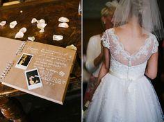 The bride wears a 1950's inspired polka dot dress by Mooshki Bride.  Photography…