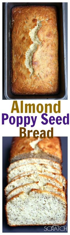 Almond Poppy Seed Bread from TastesBetterFromS. Almond Poppy Seed Bread from TastesBetterFromS. Bread Cake, Dessert Bread, Bread Food, Almond Poppy Seed Bread, Almond Bread, Almond Muffins, Poppy Seed Cake, Chocolate Muffins, Almond Flour