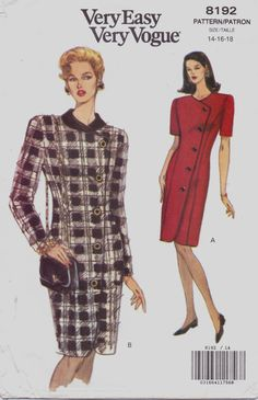 90s Very Easy Very Vogue Pattern 8192 Womens Button by CloesCloset, $11.00