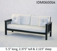 MISSION-STYLE-SOFA-1-12-SCALE-DOLLHOUSE-MINIATURES-Heirloom-Collection