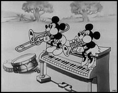 1931 Disney Cartoon with Mickey and Minnie