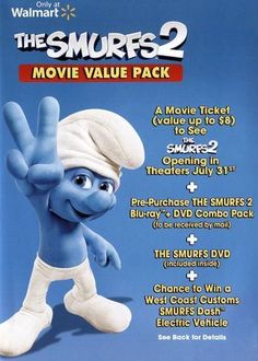 The Smurfs [Includes The Smurfs 2 Movie Ticket] [2 Discs] [DVD]