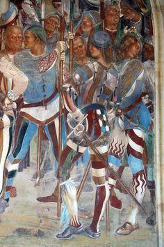 Storie di s. benedetto, 28 signorelli - Come Benedetto riconosce e accoglie Totila 09.JPG