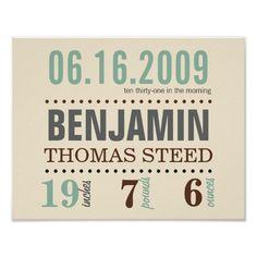 La date de naissance du bébé détaille l'affiche -