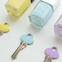 How to label your keys. Drop Dead Gorgeous Daily | The every-girl guide to living gorgeously