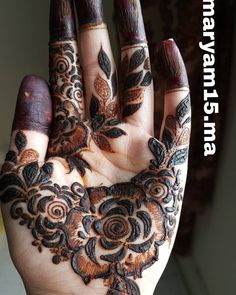 Henna Design By Fatima Khafif Mehndi Design, Latest Henna Designs, Floral Henna Designs, Finger Henna Designs, Henna Art Designs, Mehndi Designs For Girls, Mehndi Designs For Beginners, Modern Mehndi Designs, Dulhan Mehndi Designs