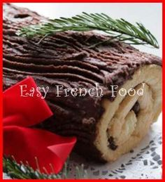 yule log cake recipe from Easy French Food. This would be an all-day affair to do with my kindergarteners, or grandkids...