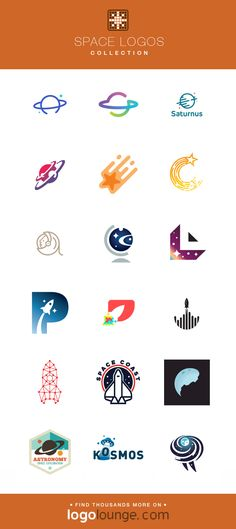 Logo Collection : Space vector logo designs. Stars, planet, sun, light, rocket, astronaut, galaxy, universe. #logo #space