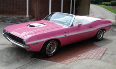 1970 DODGE CHALLENGER CONVERTIBLE 440 SIX PACK PANTHER PINK