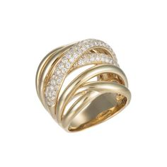 2.25 carat Diamond, Multi Band Ring in Yellow Gold  I really like the different bands with the diamonds. |Jewelry - Daily Deals|
