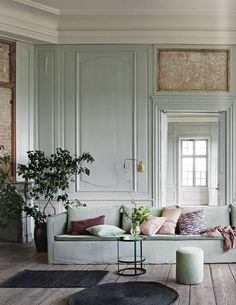 pastel living room...