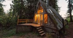 Another Cozy A-Frame Cabin in the Redwoods