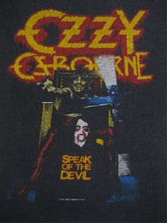 OZZY OSBOURNE vintage 1982 SHIRT Heavy Metal Music, Heavy Metal Bands, Rock And Roll Bands, Rock N Roll, Ozzy Osbourne Albums, Metallica, Madonna, Metal T Shirts, Thrash Metal