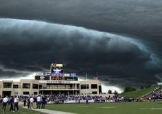 Ominous clouds over Kansas State Unversity - Manhattan, Kansas
