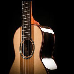 Abalone rosette is the perfect touch on the Ohana TK-90SC ukulele!