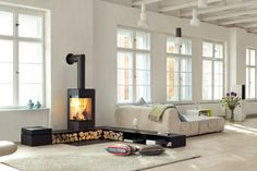 Elements stove by Skatherm.