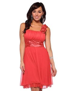 coral Bridesmaid Dresses | Cute cheap short coral bridesmaid dresses 2013 -2014 under 40 dollars
