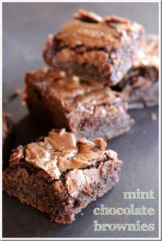 Mint Chocolate Brownies...and a Giveaway