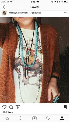 Love that my boyfriends grandpa had a huge collection of authentic Navajo bolos. Perfect for layering like how i did in the photo. Cowgirl Outfits, Cowgirl Style, Western Outfits, Boho Outfits, Pretty Outfits, Cute Outfits, Fashion Outfits, Cowgirl Clothing, Gypsy Cowgirl