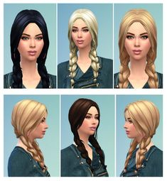 Braids for Her & Him at Birksches Sims Blog via Sims 4 Updates