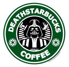 Death Starbucks by Reis O'Brien - coffee and Star Wars - my favorite. Disney Starbucks, Starbucks Logo, Starbucks Coffee, Drink Coffee, Coffee Coffee, Coffee Time, Lego Star Wars, Star Wars Art, Serge Gainsbourg