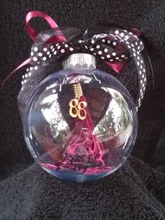 My Graduation tassel turned into a Christmas ornament