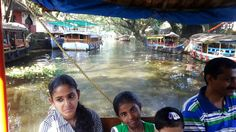 Allepy Boat Trip - house boats at vembanadu kayal - Back water