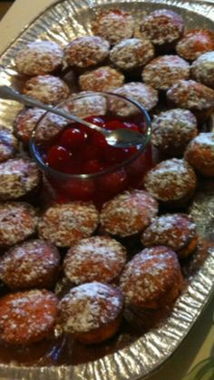 Mini cherry muffins. Recipe by Trisha Yearwood!