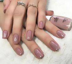 40 glitter gel nail designs for short nails for spring 2019 19 - idekitchen Glitter Gel Nails, Nude Nails, Nail Manicure, Gel Manicures, Acrylic Nails, Winter Nails, Spring Nails, Gel Nagel Design, Gel Nail Colors